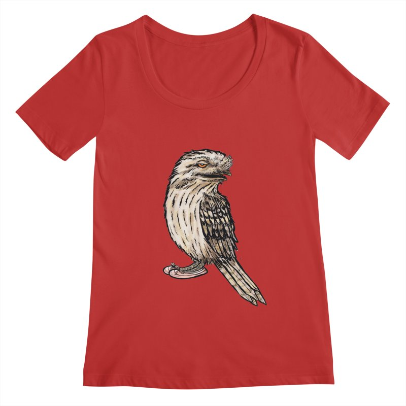 Tawny Frogmouth Women's Regular Scoop Neck by Simon Christopher Greiner