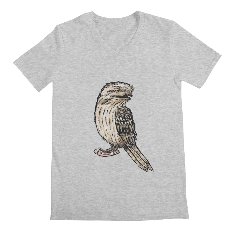 Tawny Frogmouth Men's V-Neck by Simon Christopher Greiner