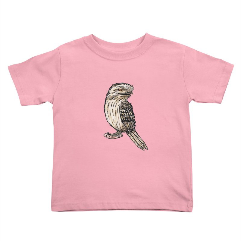 Tawny Frogmouth Kids Toddler T-Shirt by Simon Christopher Greiner