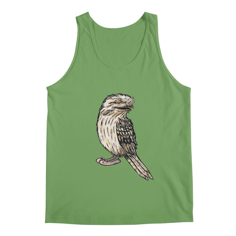 Tawny Frogmouth Men's Tank by Simon Christopher Greiner