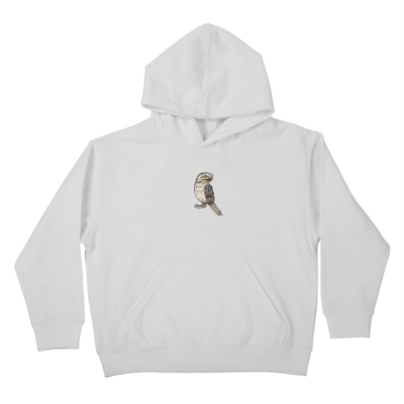 Tawny Frogmouth Kids Pullover Hoody by Simon Christopher Greiner
