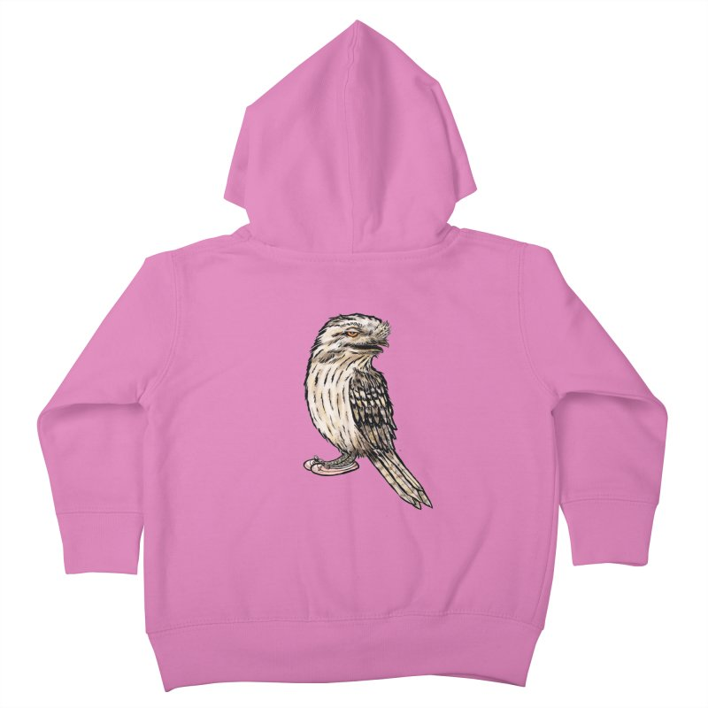 Tawny Frogmouth Kids Toddler Zip-Up Hoody by Simon Christopher Greiner