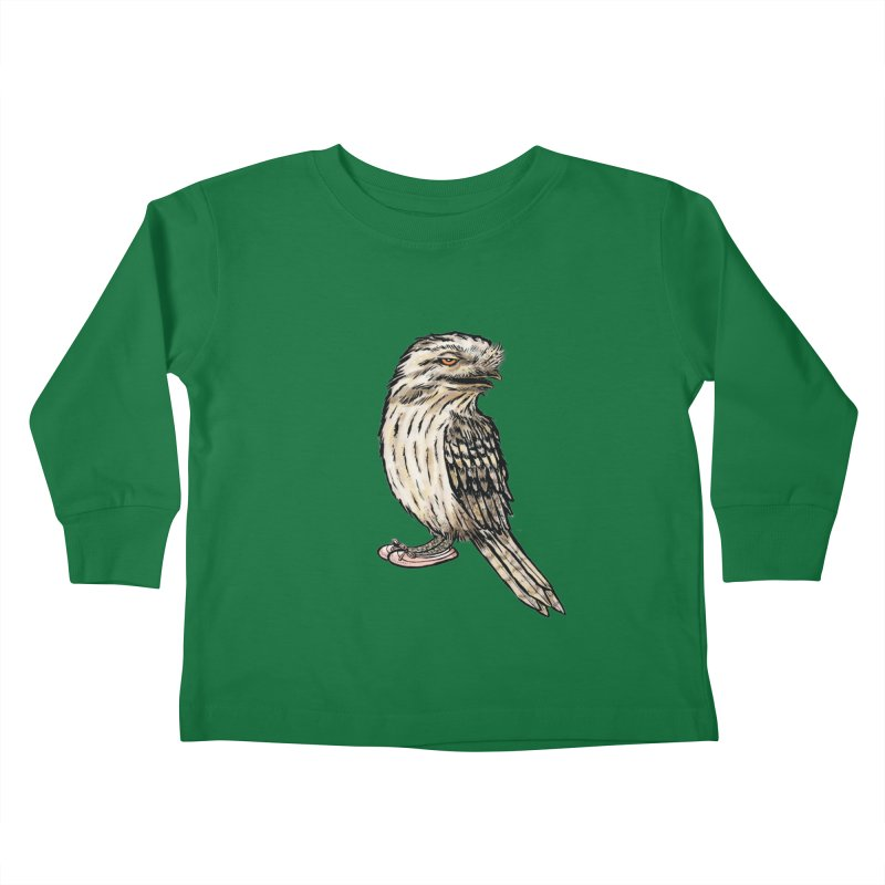 Tawny Frogmouth Kids Toddler Longsleeve T-Shirt by Simon Christopher Greiner