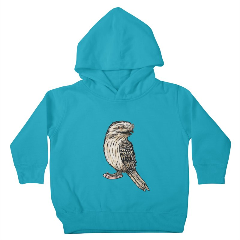 Tawny Frogmouth Kids Toddler Pullover Hoody by Simon Christopher Greiner