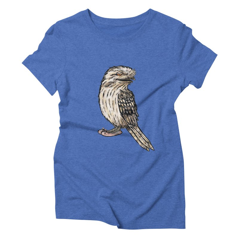 Tawny Frogmouth Women's Triblend T-Shirt by Simon Christopher Greiner