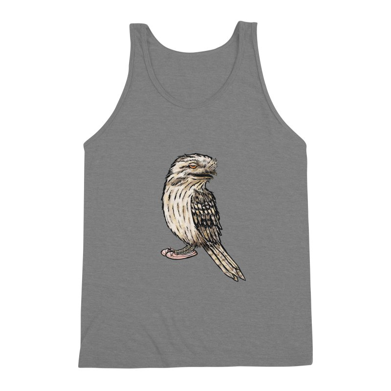 Tawny Frogmouth Men's Triblend Tank by Simon Christopher Greiner
