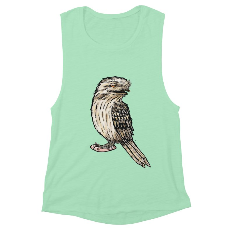 Tawny Frogmouth Women's Muscle Tank by Simon Christopher Greiner