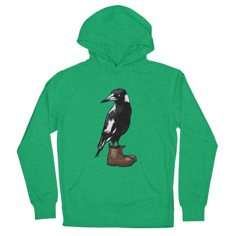 Magpie Women's French Terry Pullover Hoody by Simon Christopher Greiner