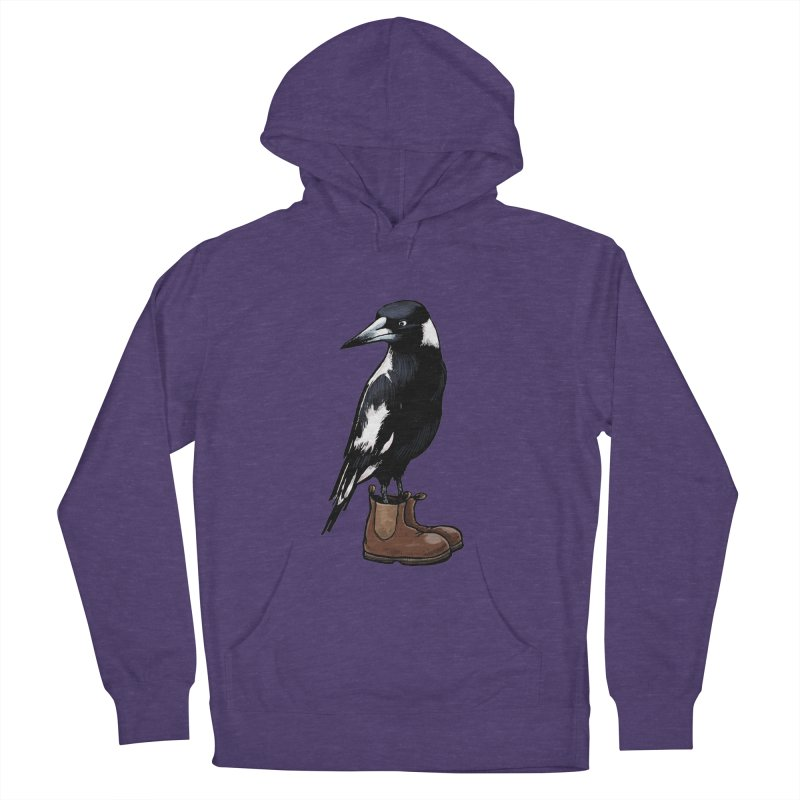Magpie Men's French Terry Pullover Hoody by Simon Christopher Greiner