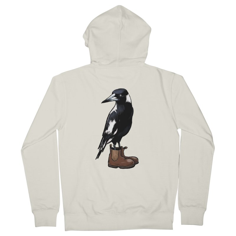 Magpie Women's French Terry Zip-Up Hoody by Simon Christopher Greiner