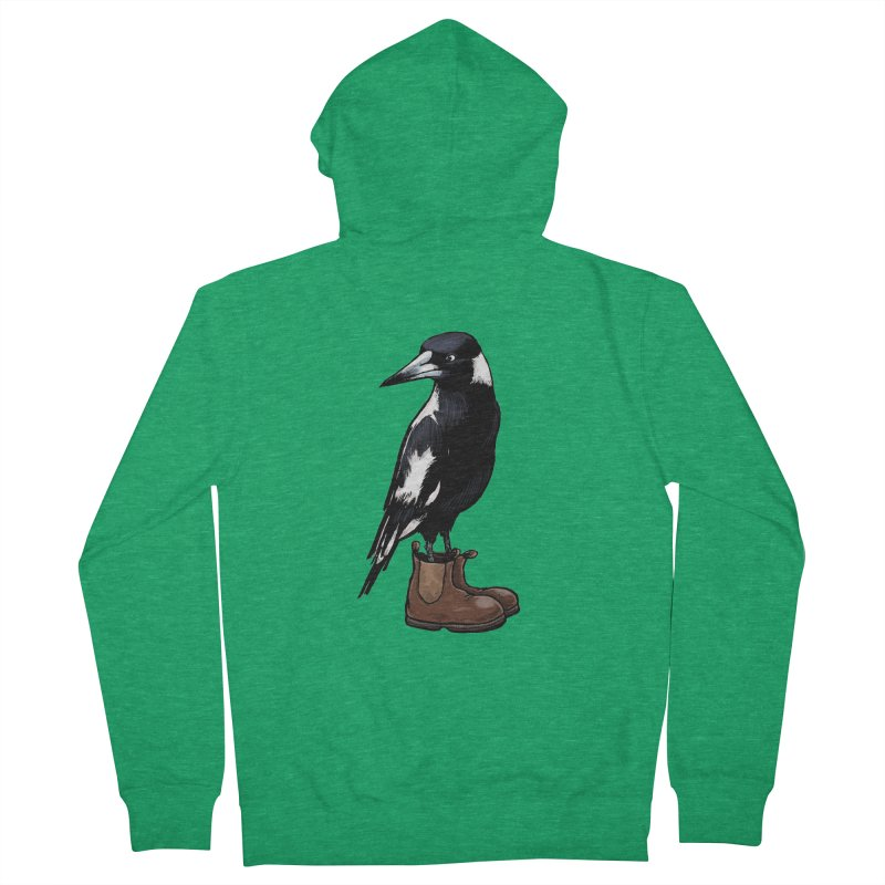 Magpie Men's French Terry Zip-Up Hoody by Simon Christopher Greiner