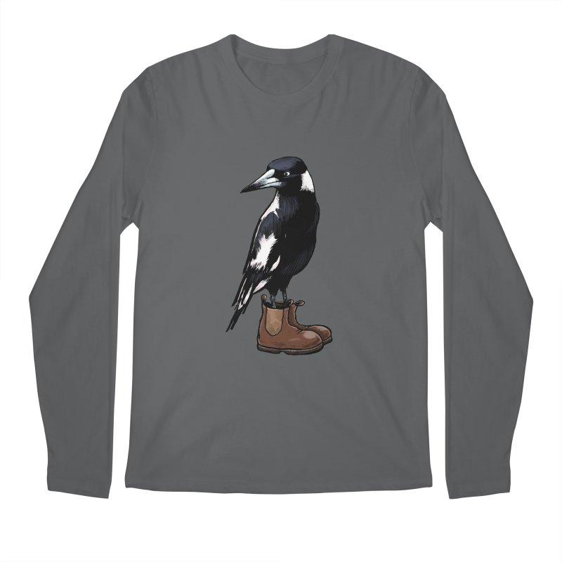 Magpie Men's Regular Longsleeve T-Shirt by Simon Christopher Greiner