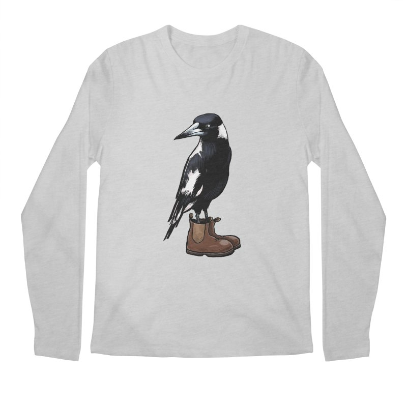 Magpie Men's Regular Longsleeve T-Shirt by Simon Christopher Greiner