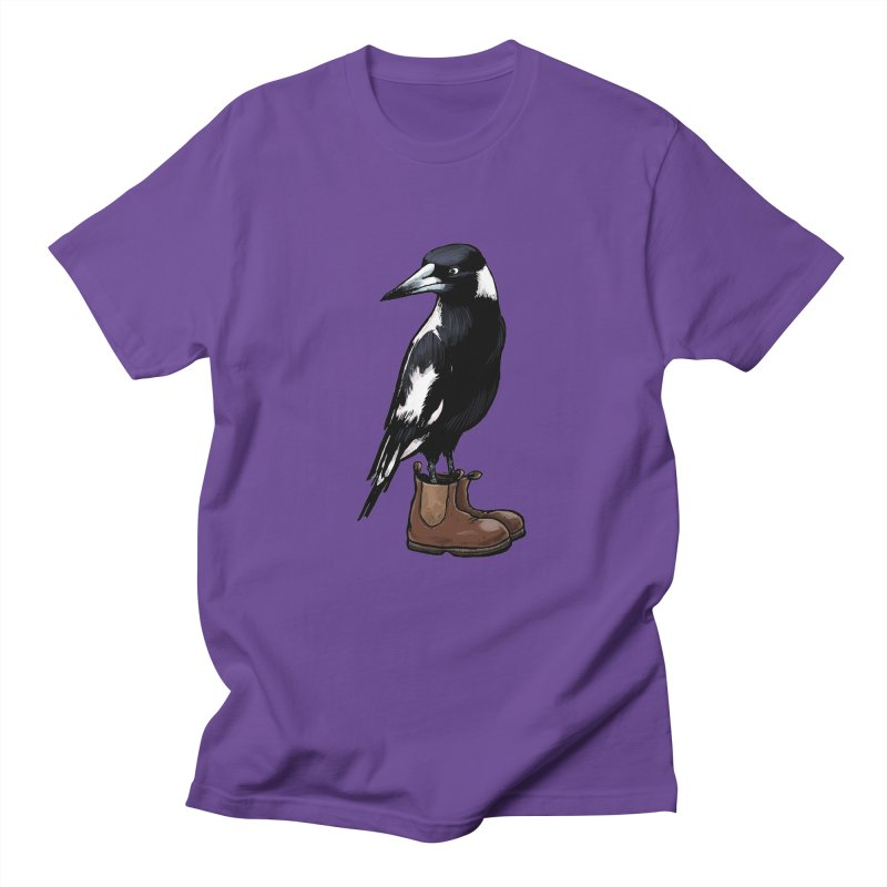 Magpie Men's T-Shirt by Simon Christopher Greiner