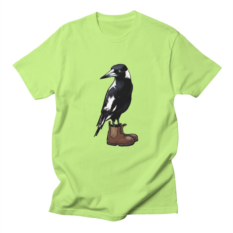 Magpie Men's Regular T-Shirt by Simon Christopher Greiner