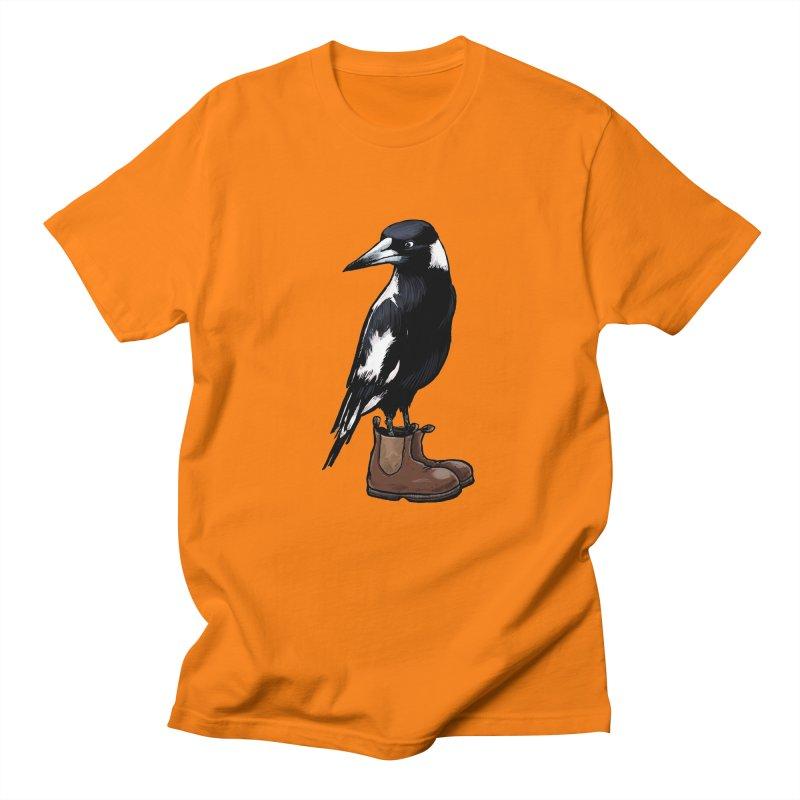 Magpie Men's Regular T-Shirt by Simon Christopher Greiner