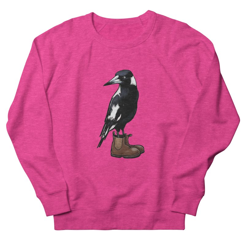 Magpie Men's French Terry Sweatshirt by Simon Christopher Greiner