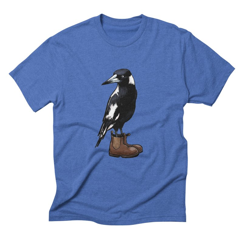 Magpie Men's T-Shirt by Simon Christopher Greiner
