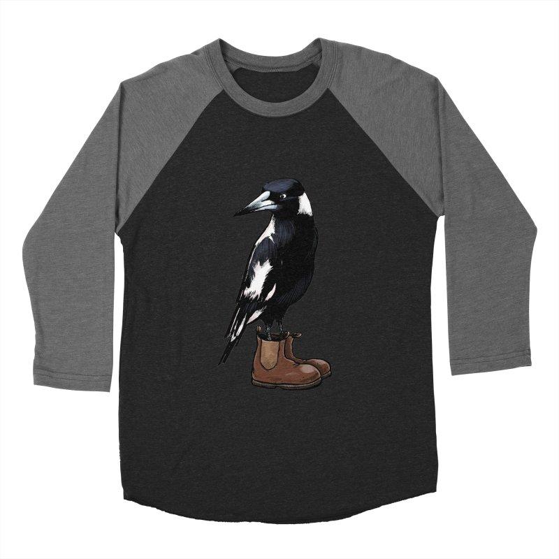 Magpie Women's Baseball Triblend T-Shirt by Simon Christopher Greiner