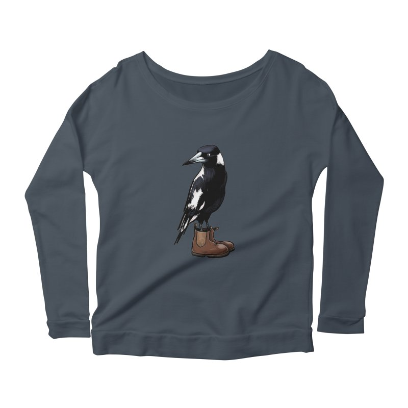 Magpie Women's Scoop Neck Longsleeve T-Shirt by Simon Christopher Greiner