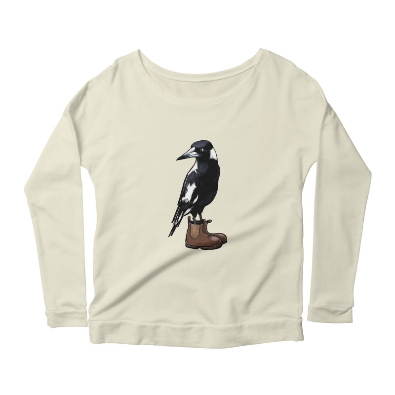 Magpie Women's Scoop Neck Longsleeve T-Shirt by Simon Christopher Greiner