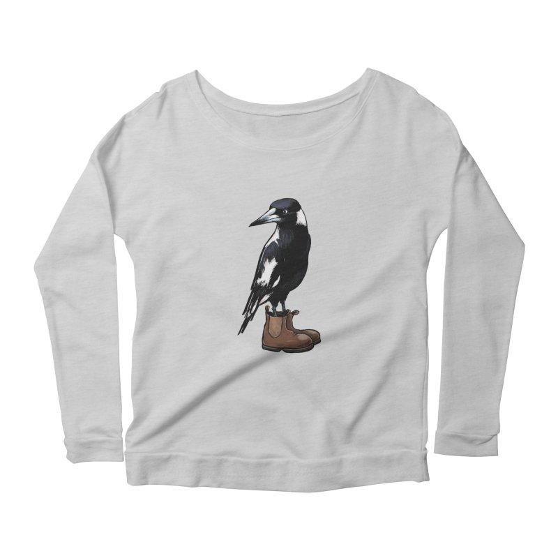 Magpie Women's Longsleeve Scoopneck  by Simon Christopher Greiner