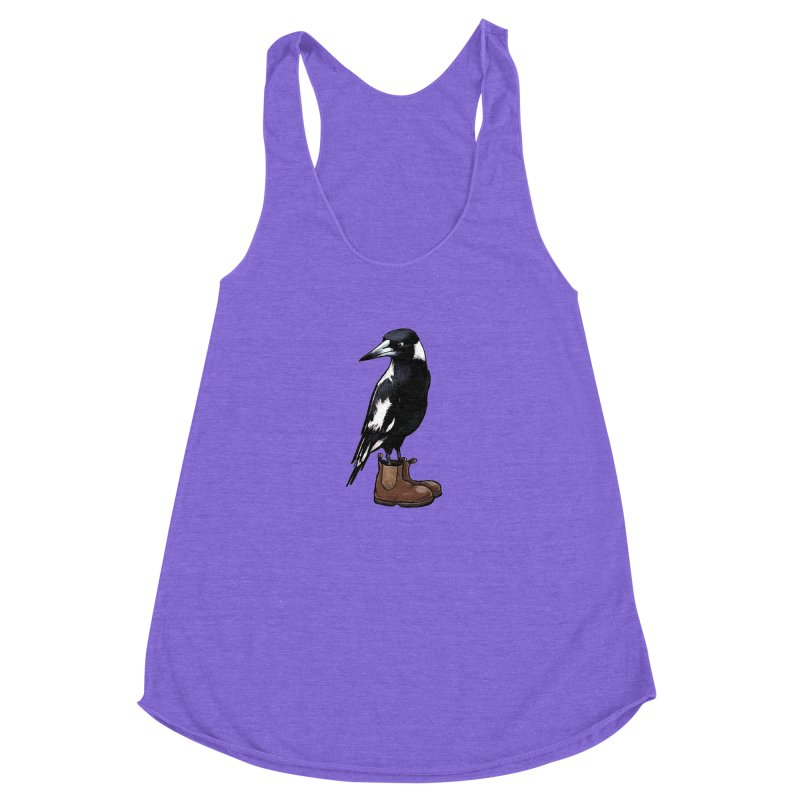 Magpie Women's Racerback Triblend Tank by Simon Christopher Greiner