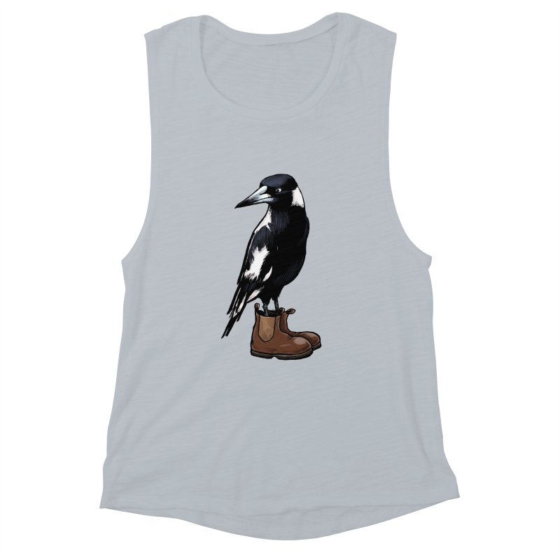 Magpie Women's Muscle Tank by Simon Christopher Greiner