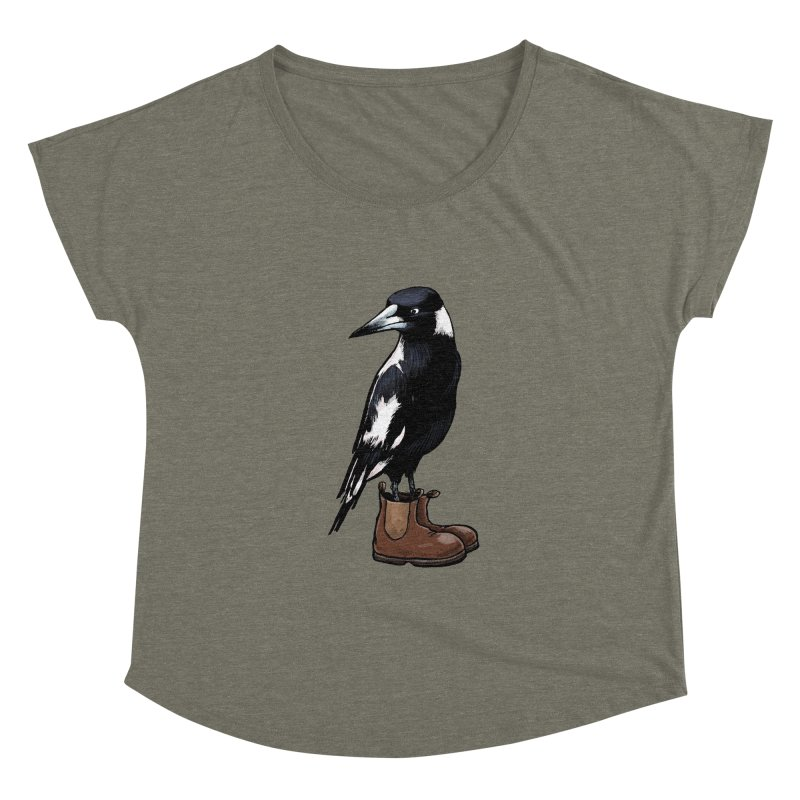 Magpie Women's Scoop Neck by Simon Christopher Greiner