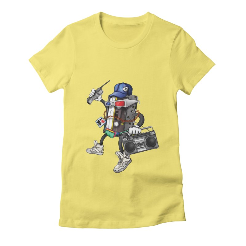 I Am The 80s Women's Fitted T-Shirt by simonthegreat's Artist Shop