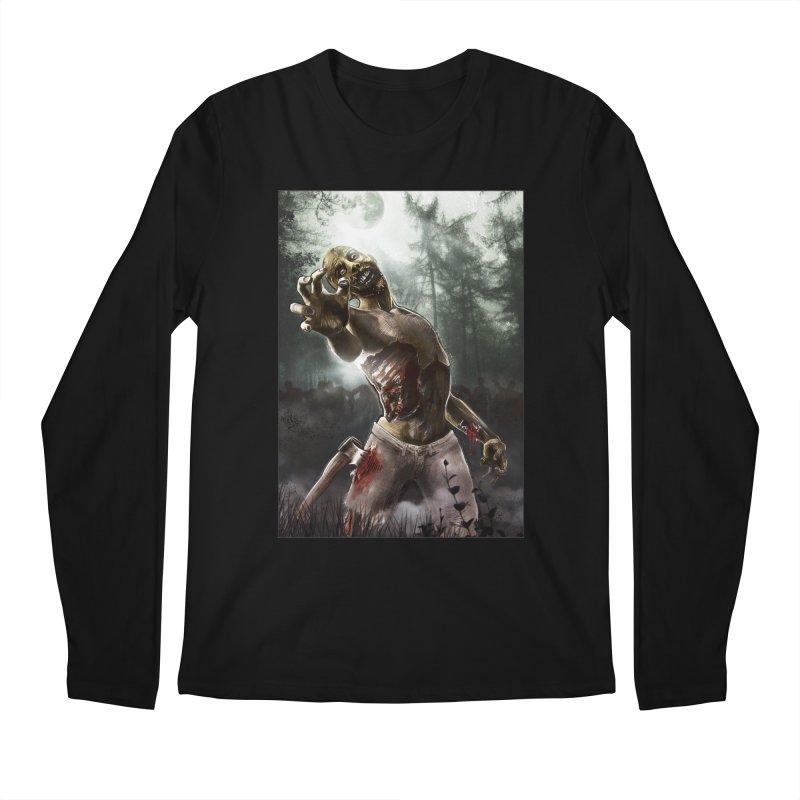 Zombie Walkers of The Living Dead Men's Longsleeve T-Shirt by simonthegreat's Artist Shop