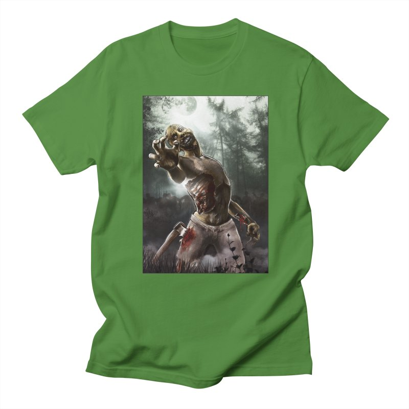 Zombie Walkers of The Living Dead Men's T-shirt by simonthegreat's Artist Shop