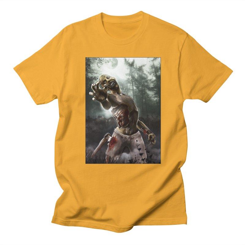 Zombie Walkers of The Living Dead Men's T-Shirt by simonthegreat's Artist Shop