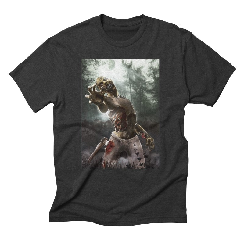 Zombie Walkers of The Living Dead Men's Triblend T-Shirt by simonthegreat's Artist Shop