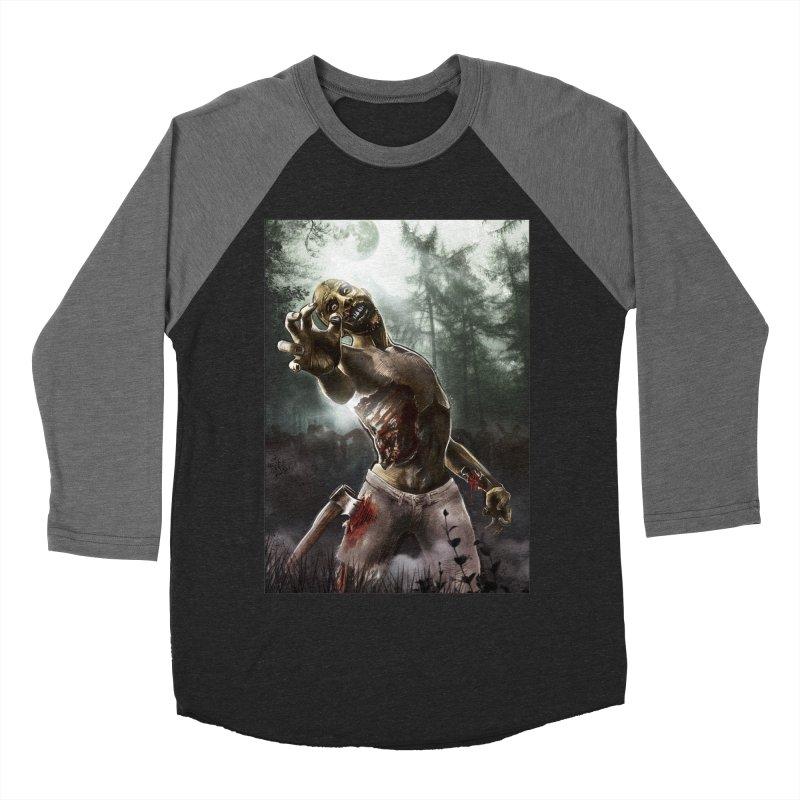 Zombie Walkers of The Living Dead Women's Baseball Triblend T-Shirt by simonthegreat's Artist Shop