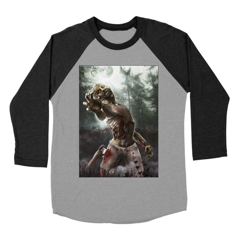 Zombie Walkers of The Living Dead Men's Baseball Triblend T-Shirt by simonthegreat's Artist Shop