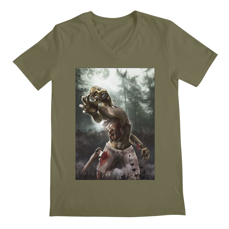 Zombie Walkers of The Living Dead Men's V-Neck by simonthegreat's Artist Shop