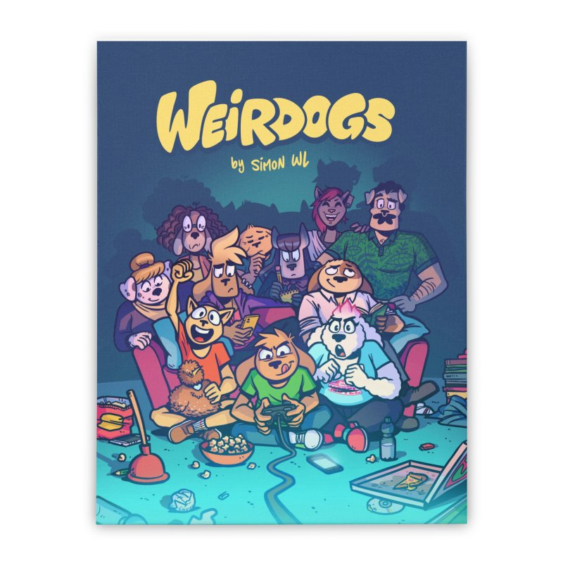 Weirdogs - Cast Poster Home Stretched Canvas by simonwl's Artist Shop