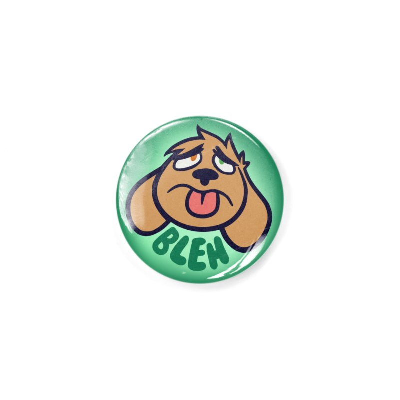 "Weirdogs - Dodger ""BLEH"" Button Accessories Button by simonwl's Artist Shop"