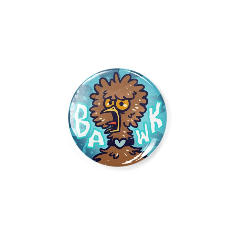 "Weirdogs - Henrietta ""BAWK"" Button Accessories Button by simonwl's Artist Shop"