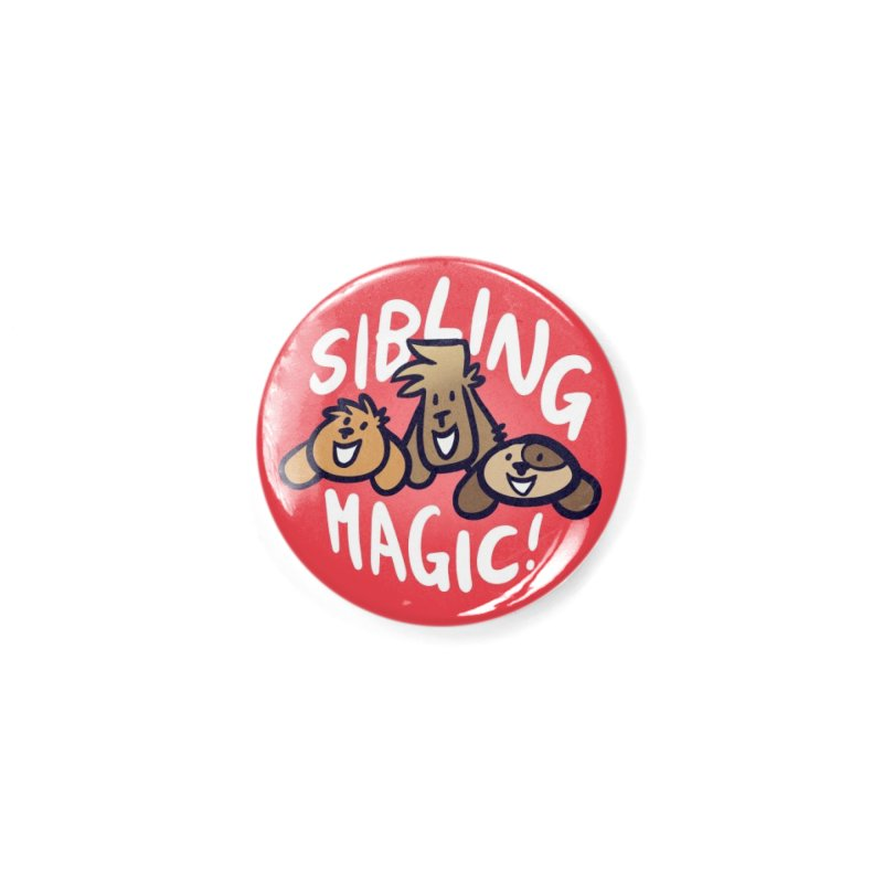 Weirdogs - SIBLING MAGIC Button Accessories Button by simonwl's Artist Shop