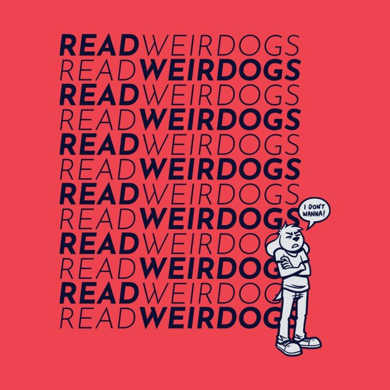 Read Weirdogs (WHITE DODGER) Women's T-Shirt by simonwl's Artist Shop
