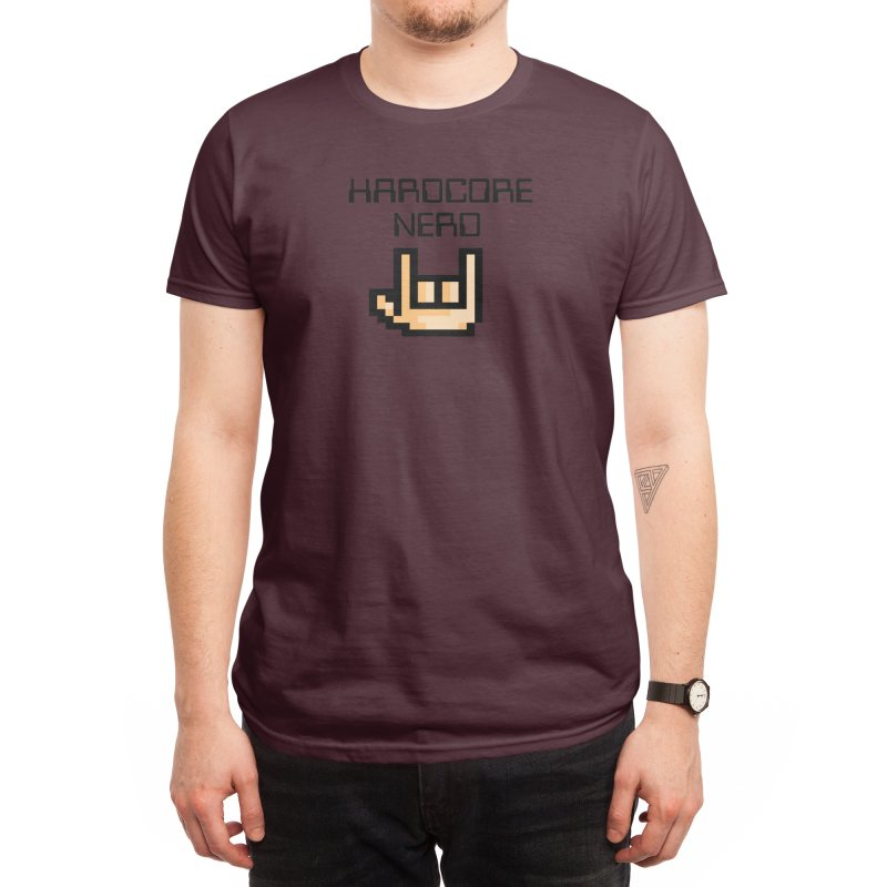 HardCore Nerd Men's T-Shirt by simplecreator's Artist Shop