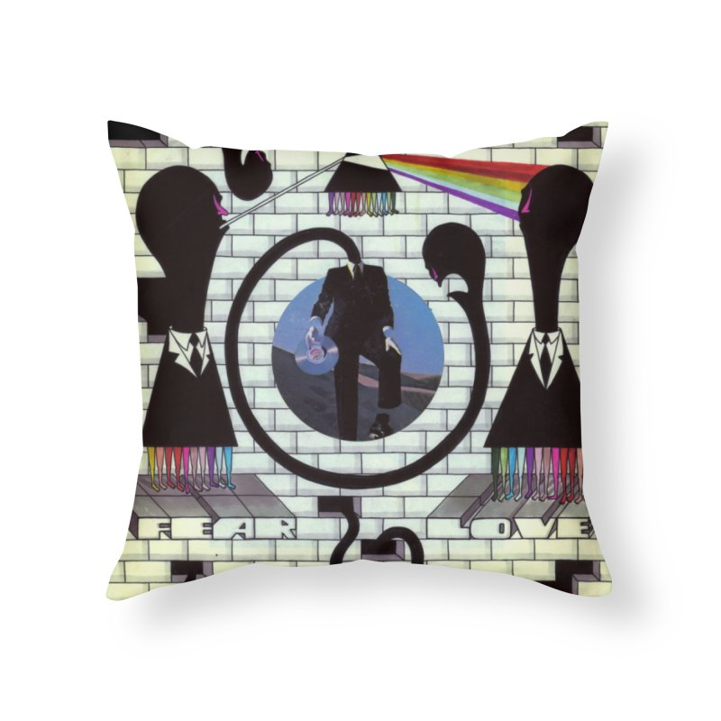 Pinky and the Floyd Brain Damage Home Throw Pillow by simpleheady's Shop