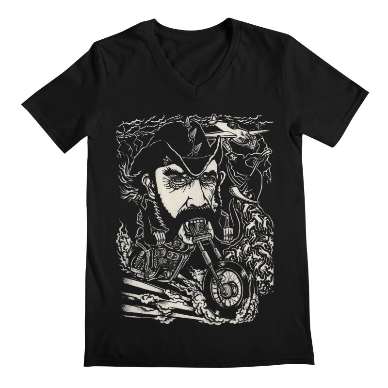 Lemmy Men's Regular V-Neck by simpleheady's Shop