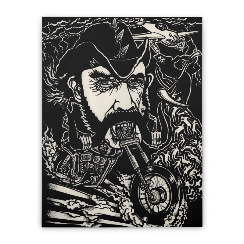 Lemmy Home Stretched Canvas by simpleheady's Shop