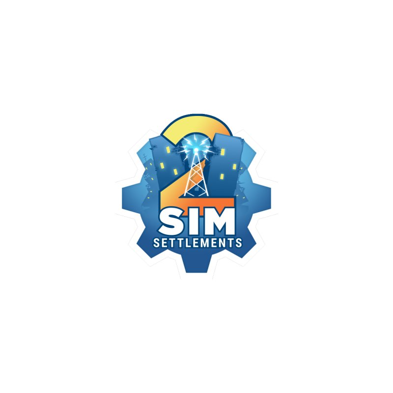 Sim Settlements 2 Accessories Accessories Sticker by Sim Settlements Shop