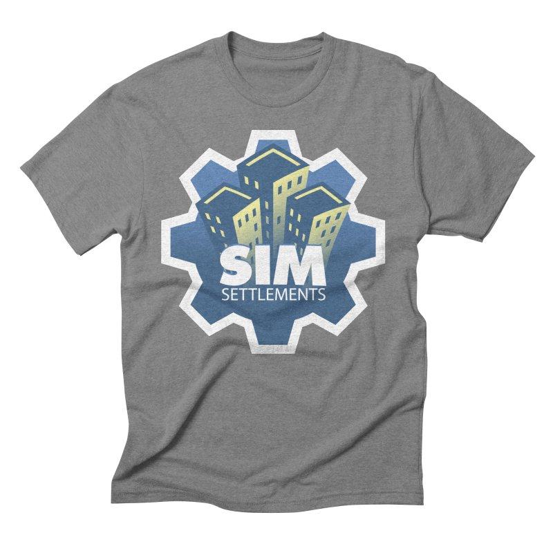 Sim Settlements Logo Men's Triblend T-Shirt by Sim Settlements Shop