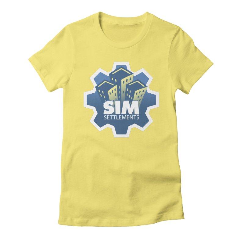 Sim Settlements Logo Women's Fitted T-Shirt by Sim Settlements Shop