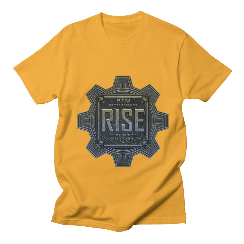 Rise of the Commonwealth Logo Men's Regular T-Shirt by Sim Settlements Shop